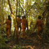Korubo people in the Vale do Javarí Indigenous Land. Photo: Enrique Ortiz