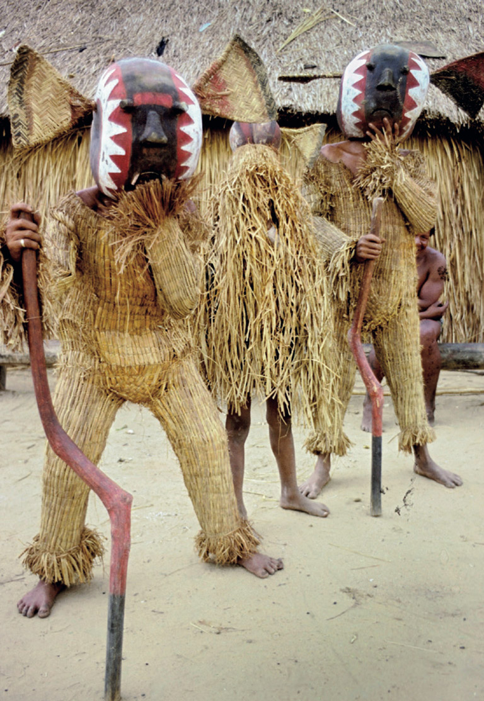Xinguano shaman in straw. Photo courtesy of John Hemming.