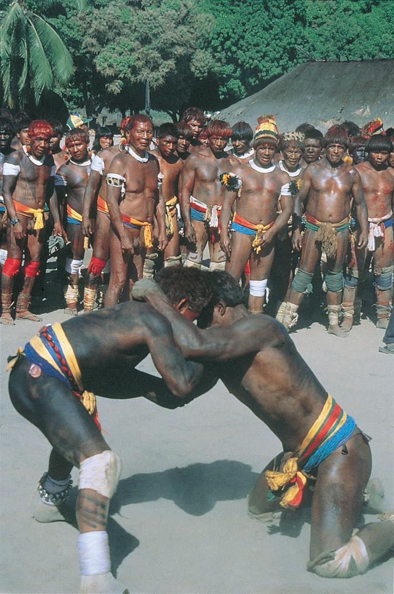 Huka-huka wrestlers. Photo courtesy of John Hemming.