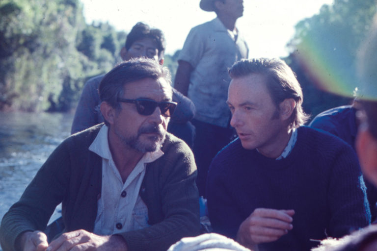Claudio Villas Boas and John Hemming on the Xingu in 1971.