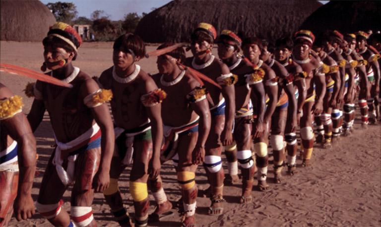Xinguano Kuarup ceremony. Photo courtesy of Noel Villas Boas