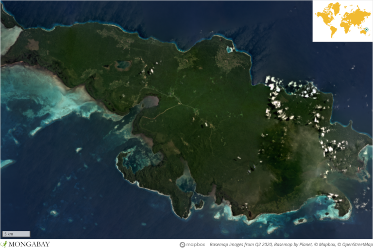 Woodlark Island, also called Muyua Island, lies about 300 kilometers (186 miles) east of the Papua New Guinea mainland.