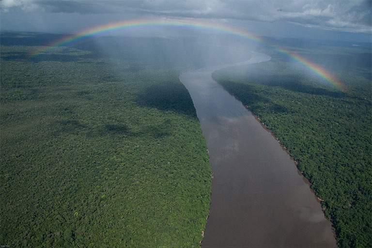 Rainbow over the Colombian Amazon. Photo © Wade Davis