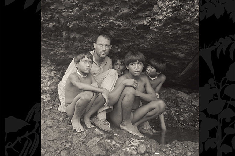 Schultes and four Indigenous Makuna in Colombia. Photo © Wade Davis