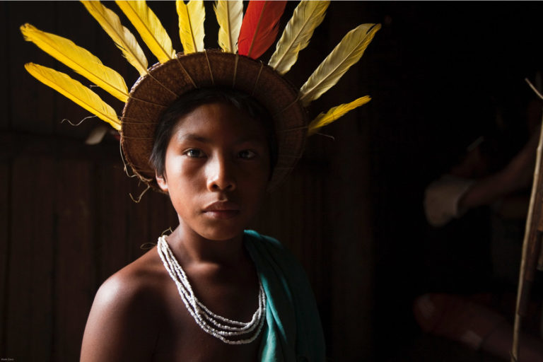 Indigenous boy in the Colombian Amazon. &copy Wade Davis