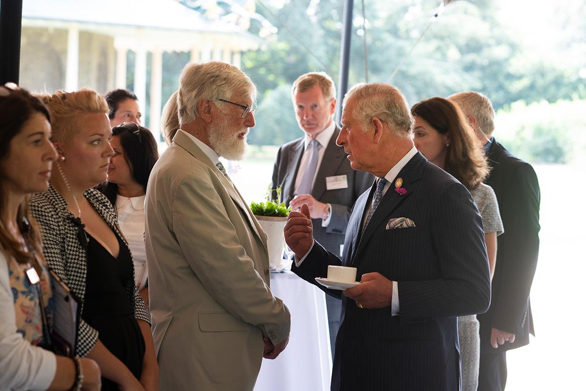 Sir Ghillean Prance with Prince Charles.