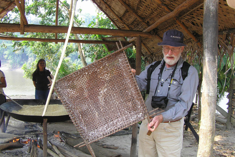 Sir Ghillean Prance in the Amazon in 2005.