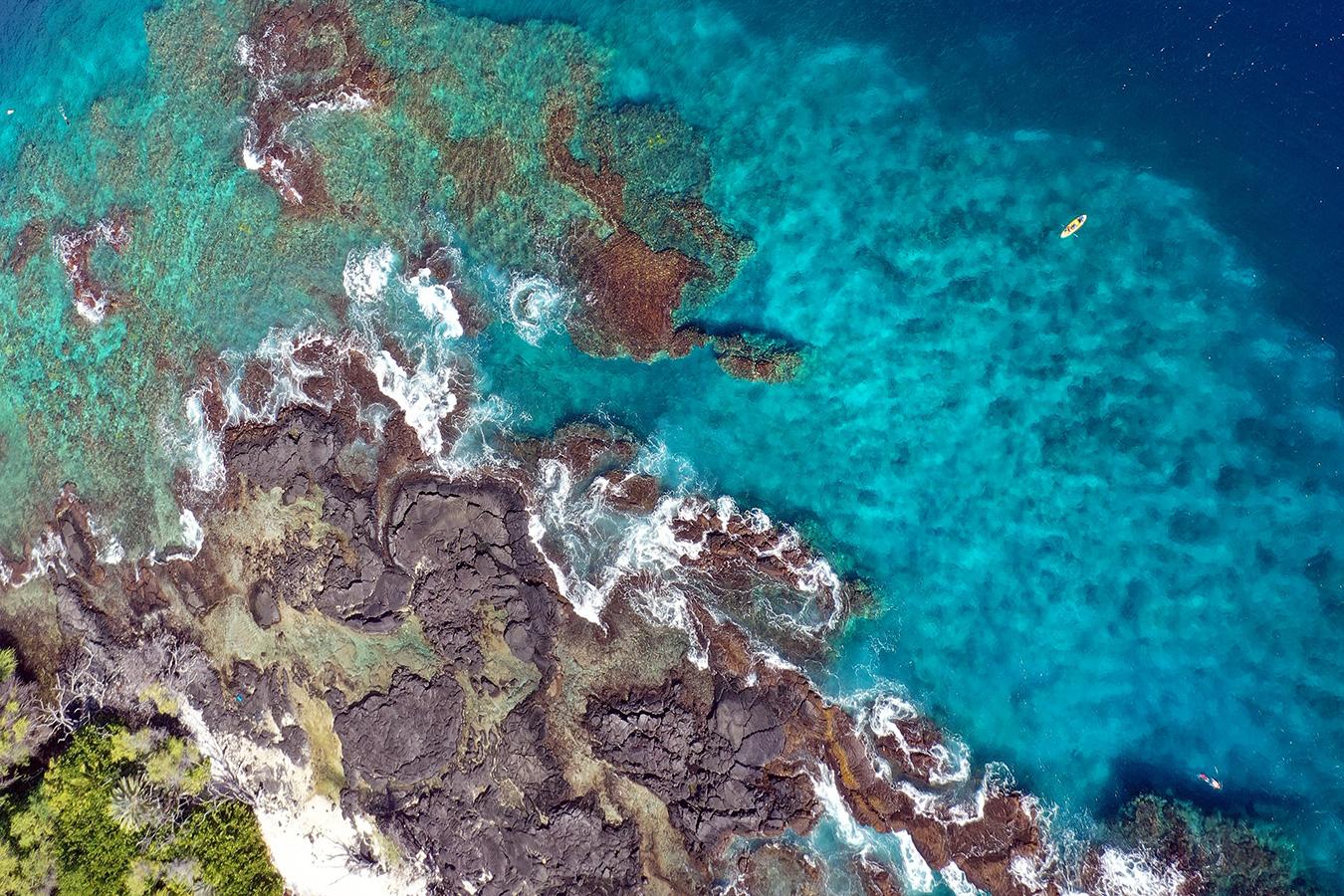 Coastline off Hawaii. Photo by Rhett A. Butler.