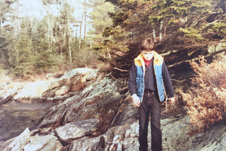Jad Daley in his youth on the coast of Maine. Courtesy of Daley.