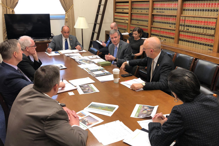 American Forests briefing the Bipartisan Climate Solutions Caucus in the U.S. House. Courtesy of American Forests