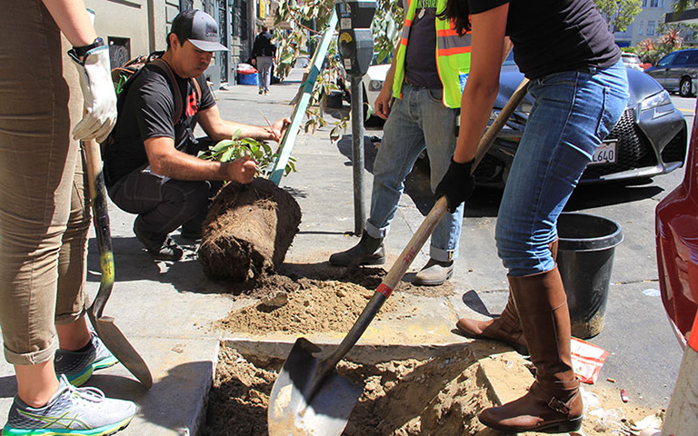 Urban tree planting. Photo courtesy of American Forests.