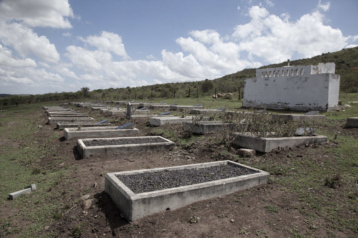 Community members say family graves exhumed to make way for the mine were relocated to a cemetery without proper identification. Image courtesy Rob Symons.