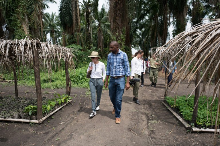 Wendy Schmidt visit to Virunga National Park. Photo by Rian deVos, The 11th Hour Project.