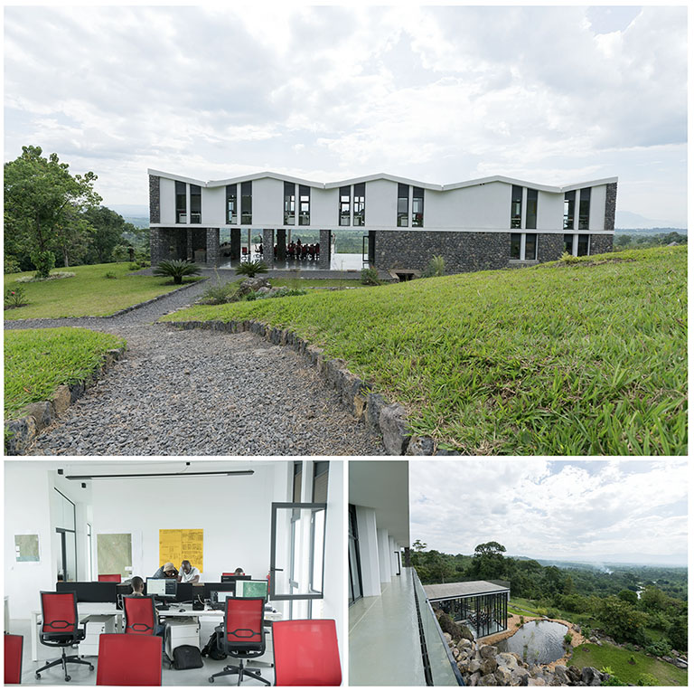 The Virunga Alliance business and conference center in eastern Democratic Republic of Congo.  Photo by Rian deVos, The 11th Hour Project.