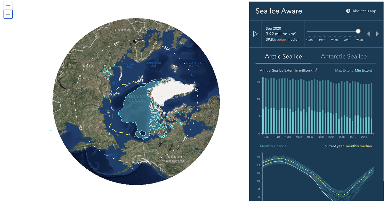 Sea Ice Aware App. Esri