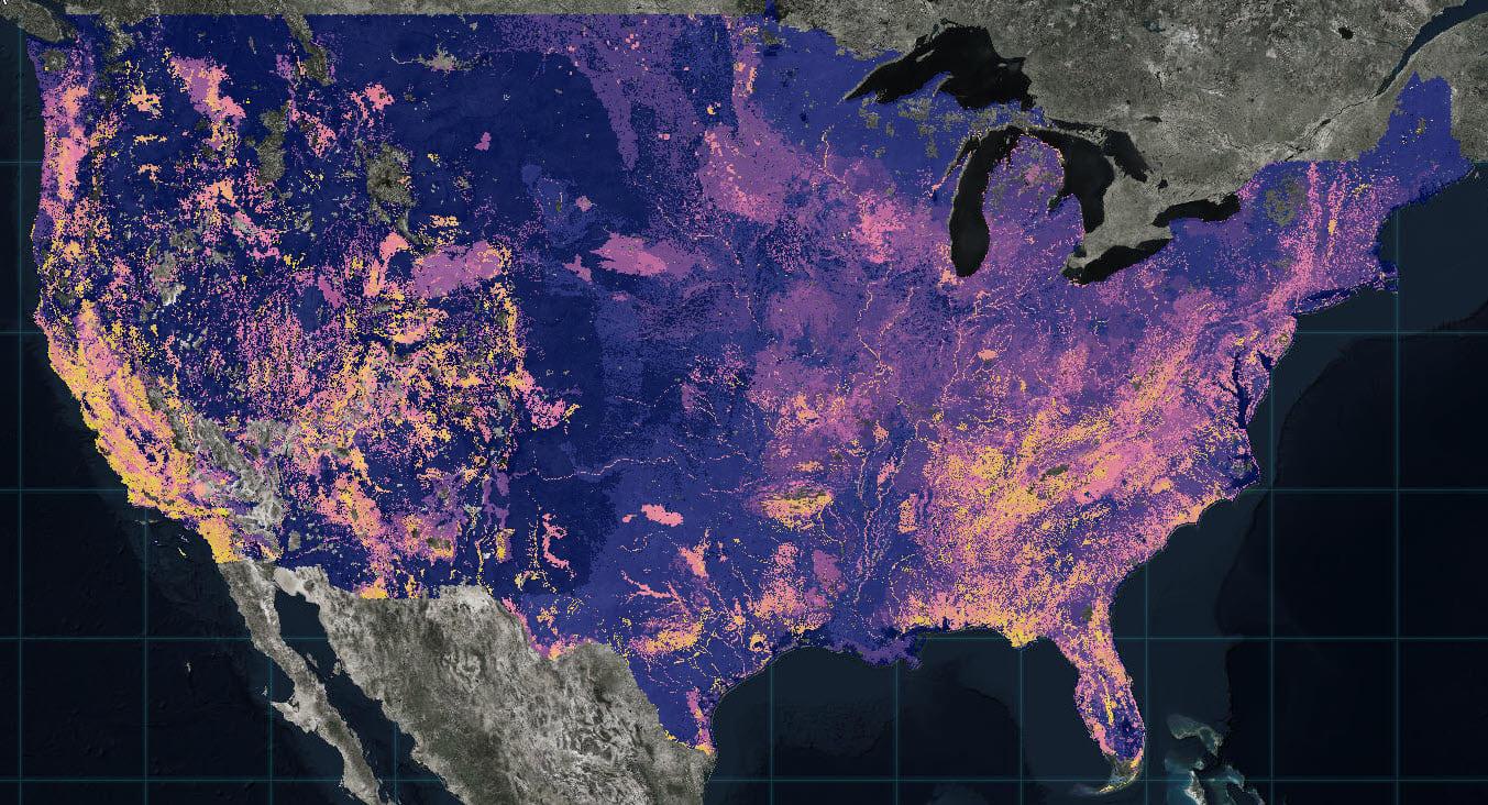 Map of Biodiversity. Esri, NatureServe