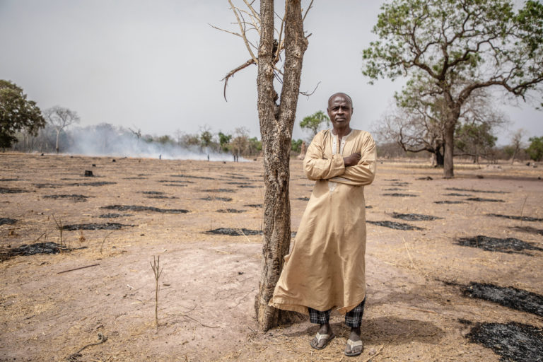Mbayenne village elder Momadou Diallo says deforestation by outsiders is affecting rainfall patterns and destroying their livelihoods. He says they have little control to stop the logging and receive no support from the government. ©Jason Florio/United Purpose.