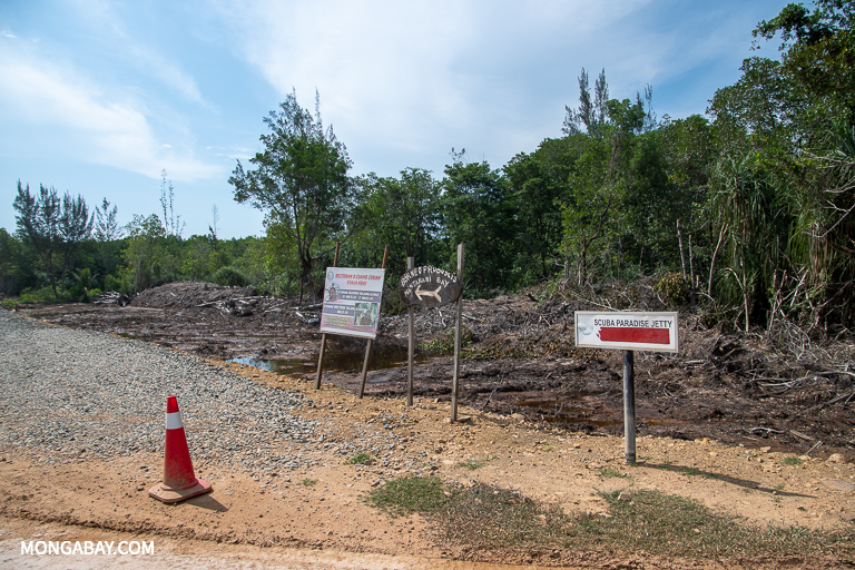 Coalition 3H warns that highway construction could affect ecotourism outfits, pictured here north of Kota Kinabalu. Image by John C. Cannon/Mongabay.