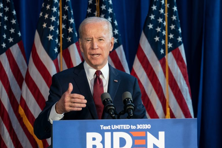 New York, NY - January 7, 2020: Former Vice President & Democratic hopeful Joe Biden made foreign policy statement at Current on Pier 59, Lev Radin for Shutterstock