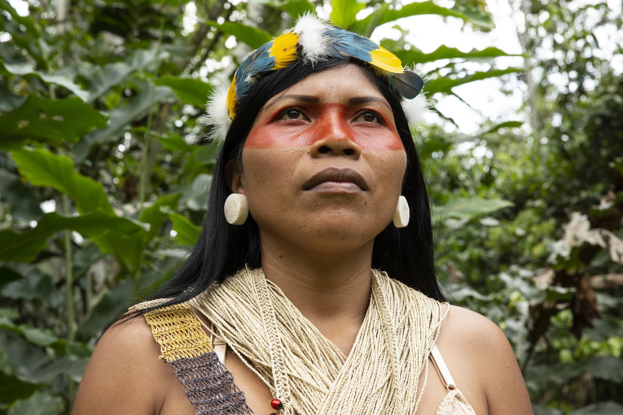 Nemonte Nenquimo, the 2020 Goldman Environmental Prize winner for South America. Image courtesy of Goldman Environmental Prize.