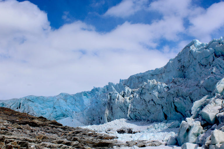 All around the Greenland Ice Sheet, glaciers retreat is accelerating. Image courtesy of Michalea King.