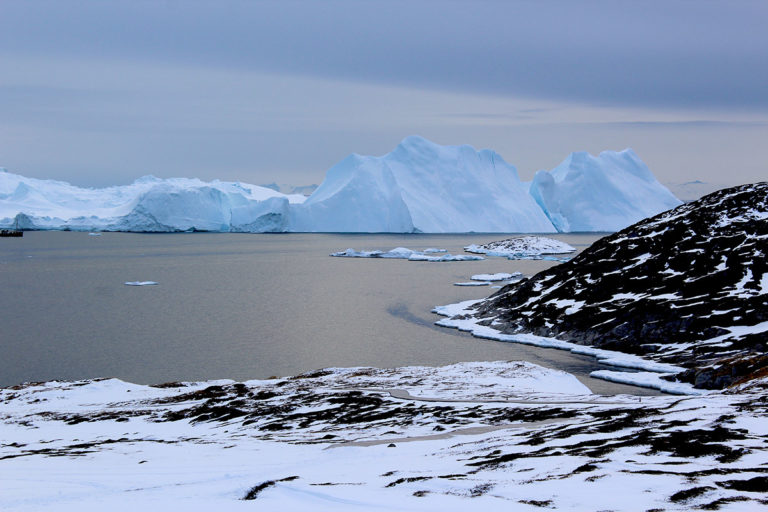 Greenland's glaciers are discharging more ice than snowfall can make up for. Image courtesy of Michalea King.