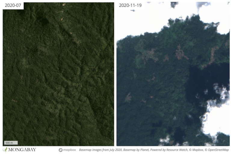 Deforestation activities in Phnom Samkos Wildlife Sanctuary appear to be spreading from flatter, lowland areas up into the mountains.