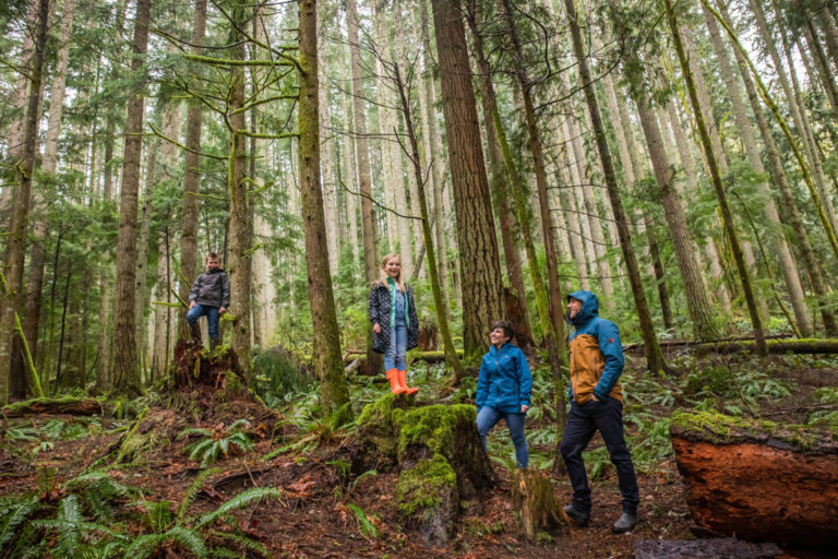 Lucas Joppa with his family in a forest near North Bend, Washington. Photo credit: Microsoft