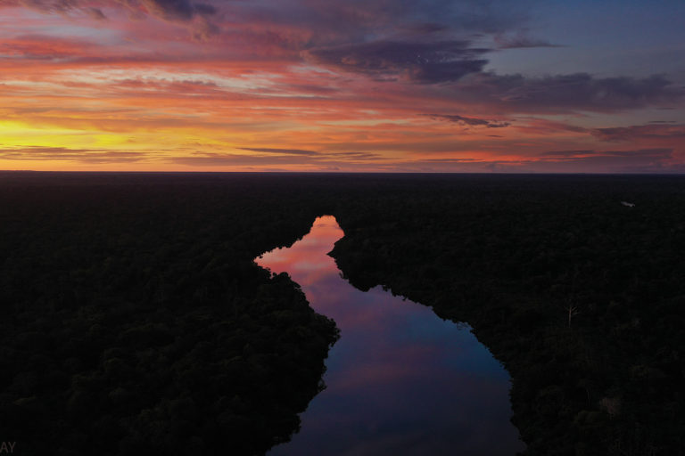 Sunset in the Amazon. Photo by Rhett A. Butler.