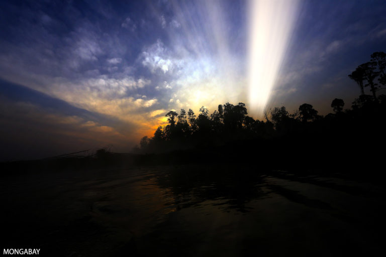Sunset over forest in Sumatra, Indonesia. Photo credit: Rhett A. Butler
