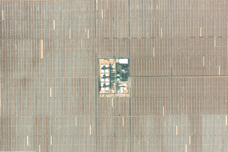 Solar panels at Solana Generating Station in Arizona. Image credit: Microsoft Zoom.Earth