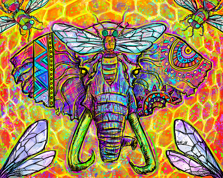 Elephant / Bees by Morgan Richardson