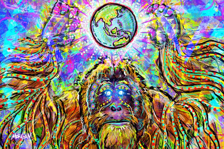 Orangutan for Earth Day by Morgan Richardson