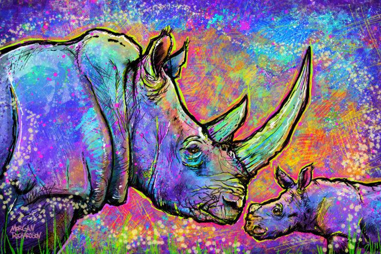 White rhinos by Morgan Richardson