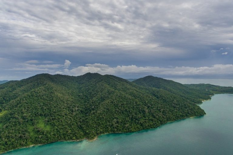 An aerial view of Lokobe National Park in northwestern Madagascar. Image © Chris Scarffe Film & Photography/Chris Scarffe.