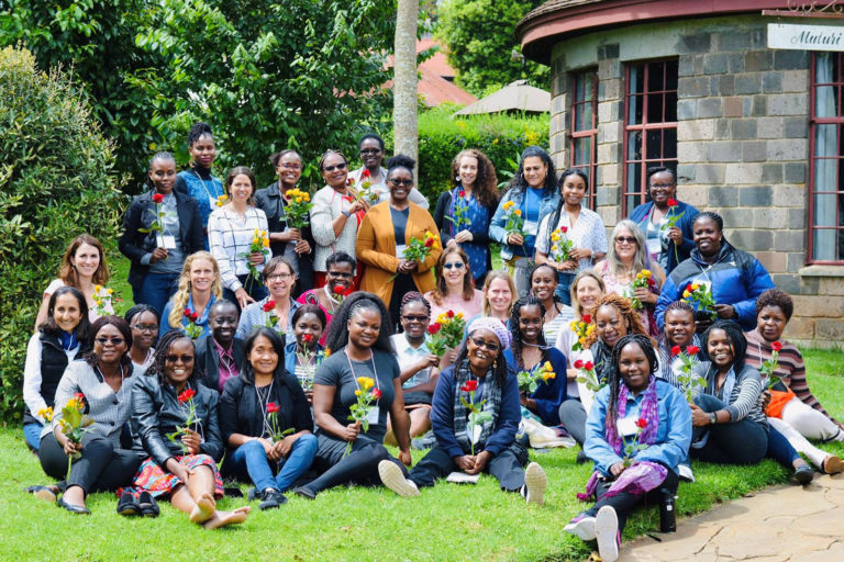 Women's leadership training from 14 countries in Africa coming together to find a different way to do conservation Photo © PRIDE Lion Conservation Alliance.