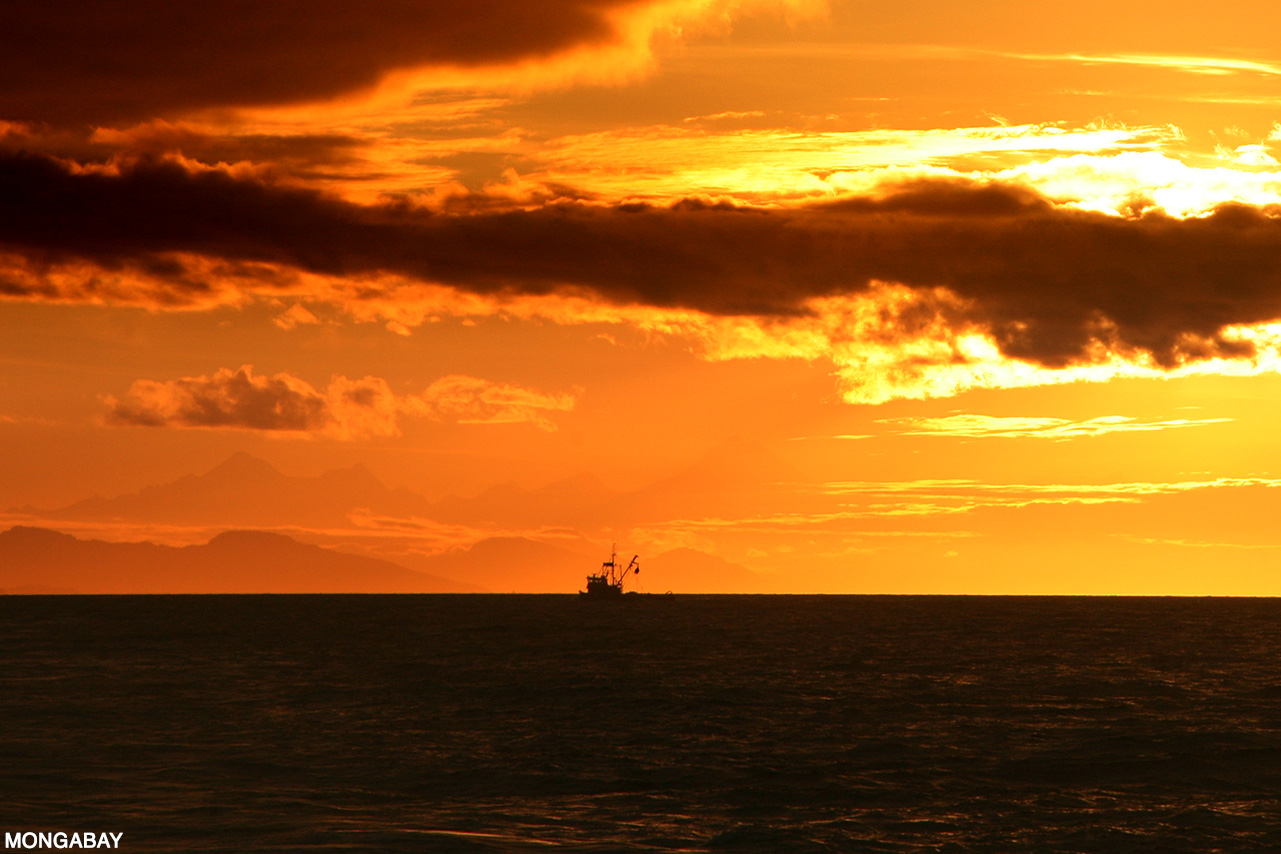 A fishing trawler off the Alaskan coast. Photo by Rhett A. Butler