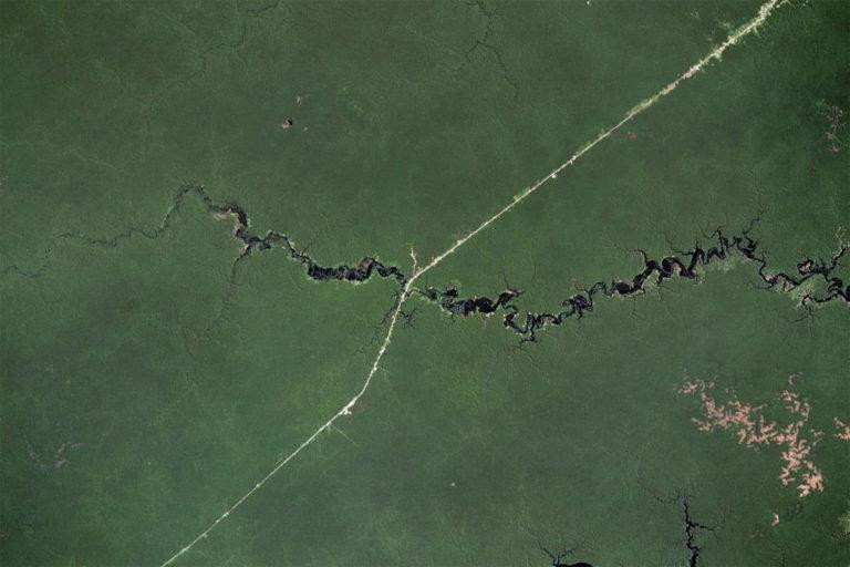 PR-319 visto do satélite.  © Microsoft Zoom.
