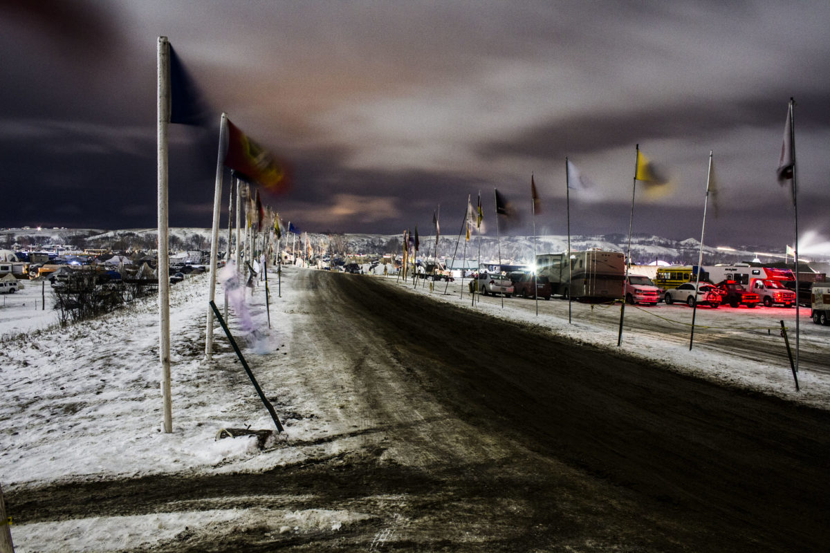 Protest camp at Standing Rock in 2016. Photo by Dark Sevier.