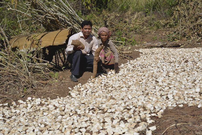 Ouch Leng with a villager in Prey Lang. Image courtesy of the Goldman Environmental Prize.