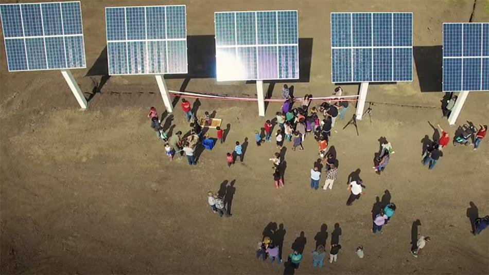 Community solar panels. Photo credit: Sacred Earth Solar