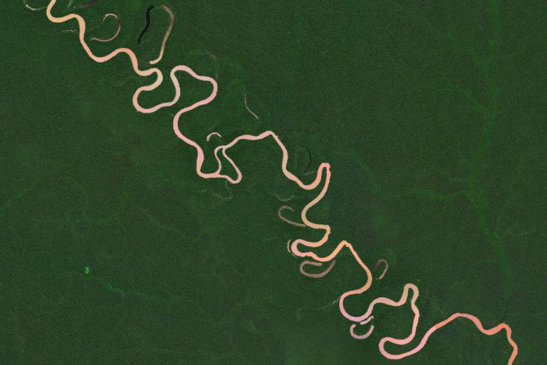 Remote river in the Peruvian Amazon. Photo credit: Microsoft Zoom Earth