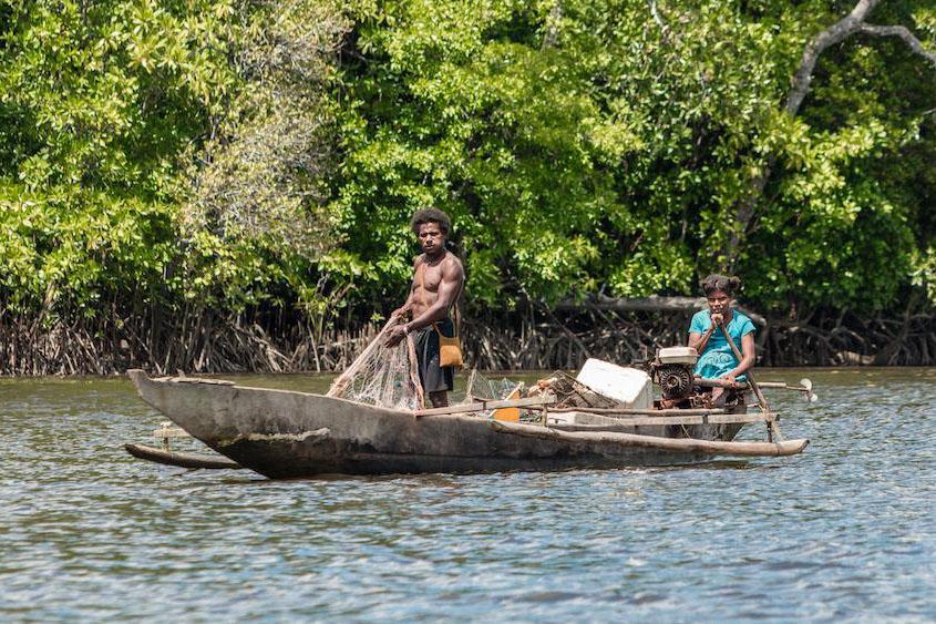 Papua fisherman. Photo credit: EcoNusa