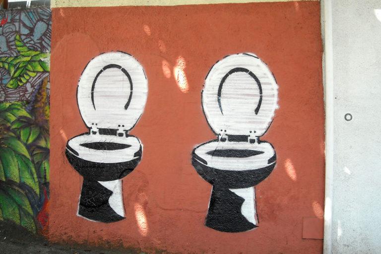 Toilet urban art