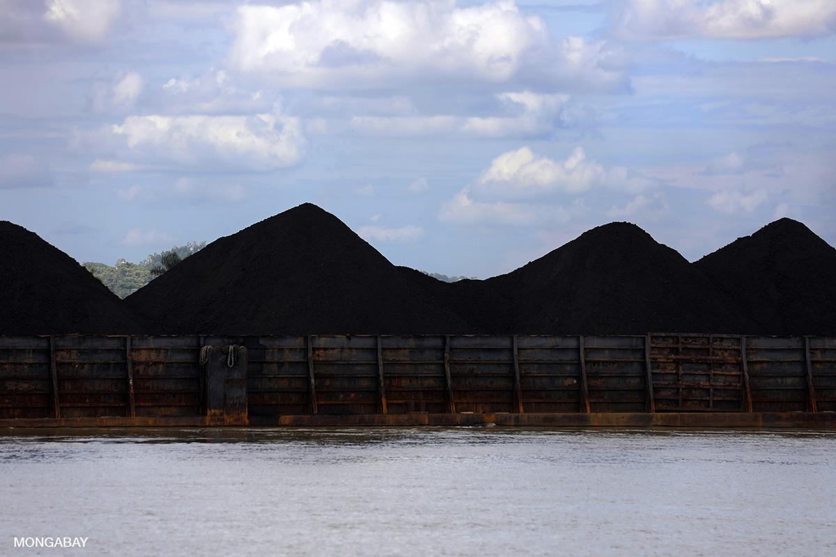 Coal on a barge near Tanjung Redeb, Indonesia. Photo credit: Rhett A. Butler