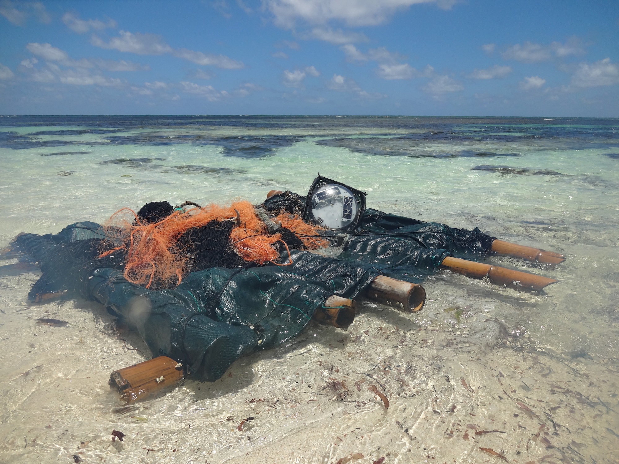 A beached FAD. Image Courtesy of Island Conservation Society.