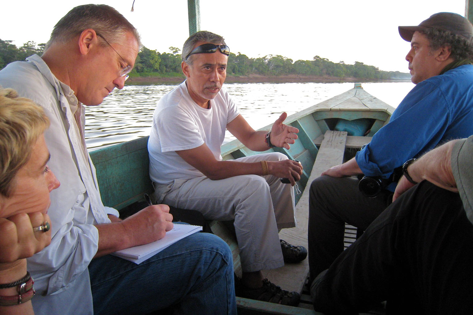 Enrique Ortiz in the Amazon. Photo credit: The Battery