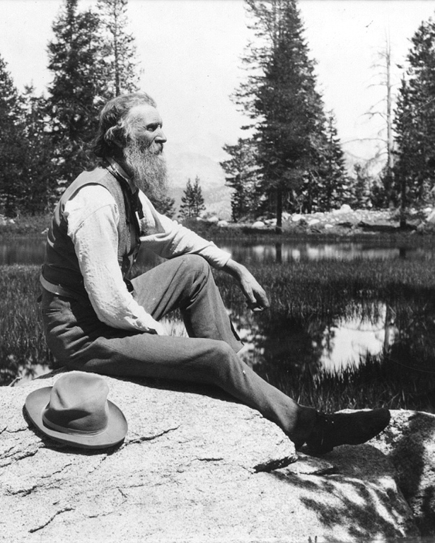 A photo of John Muir. Image courtesy of the Library of Congress via [Wikimedia Commons] (Public domain).