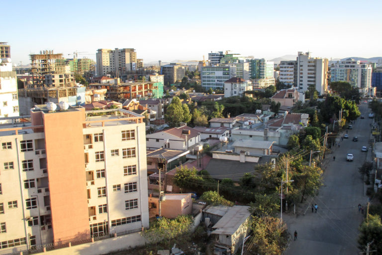 Addis Ababa, Ethiopia. Water-stressed cities like Bamako in Mali, or Addis Ababa will see more immigration from rural areas due to lack of pumps and wells and insufficient rural development.