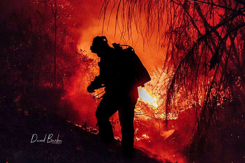 Fighting a fire in Bolivia. Photo credit: David Barba